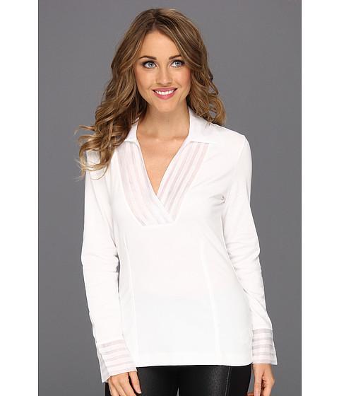 Bluze NIC+ZOE - Pleated V Top - Paper White