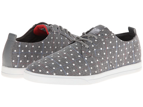 Adidasi Clae - Ellington Textile - Concrete Plaid Polka Dot Canvas