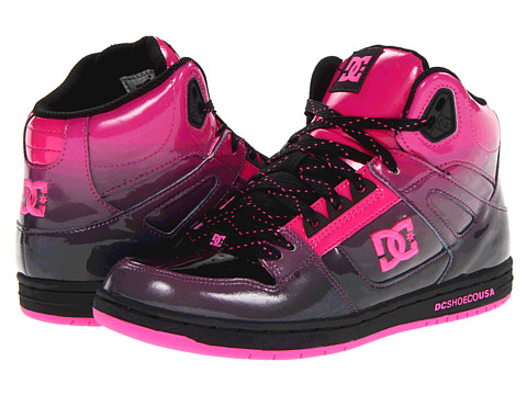 Adidasi DC - Rebound Hi LE W - Black/Fluorescent Pink