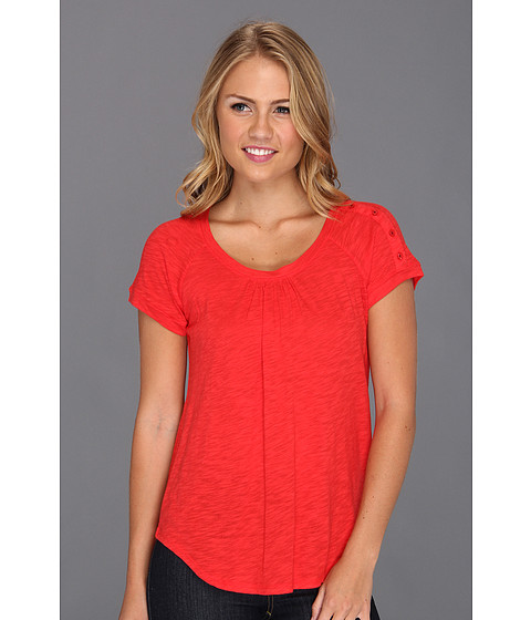 Bluze Lucky Brand - Alanna Button Top - Tomato Spice