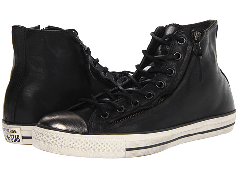 Adidasi Converse - Chuck Taylor All Star Double Zip Hi - Leather - Black/Turtledove