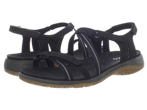 Sandale ECCO - Kawaii Sandal - Black/Black-Titanium/Fuego/Textile Ribbon