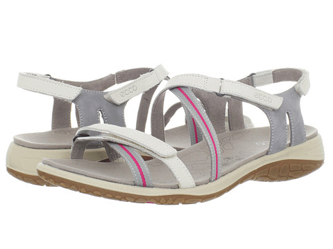 Sandale ECCO - Kawaii Sandal - Shadow White/Wild Dove-Beetroot/Fuego/Textile Ribbon