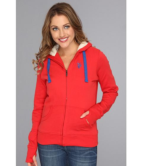 Bluze U.S. Polo Assn - Classic Fleece Hoodie - Ruby Spin