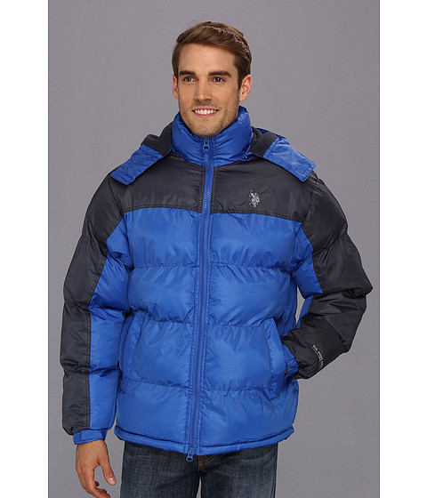 Jachete U.S. Polo Assn - Color Block Bubble Jacket - China Blue