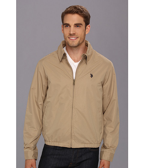 Jachete U.S. Polo Assn - Micro Golf Jacket w/ Polar Fleece Lining - Desert Khaki