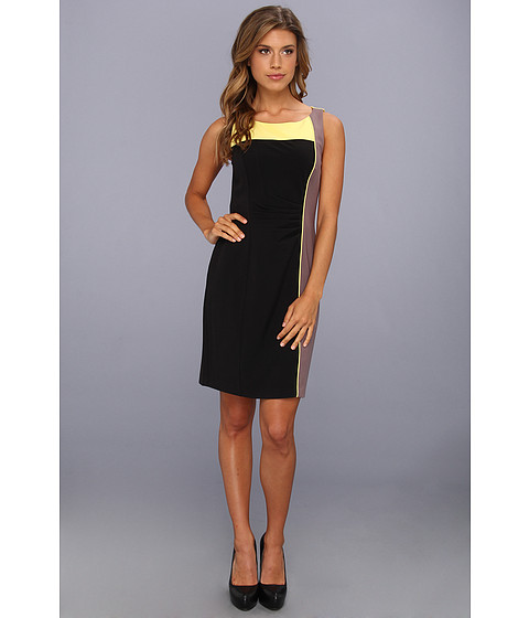 Rochii elegante: Rochie Vince Camuto - Color Block Sheath Dress - Blazing Yellow Multi