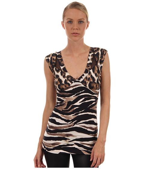 Tricouri Just Cavalli - Zebra/Leo Print Top - Natural