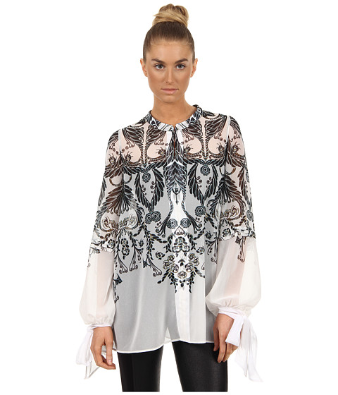 Bluze Just Cavalli - Deco Flower Flowy Blouse - White