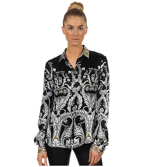 Bluze Just Cavalli - Deco Flower Print Blouse - Black