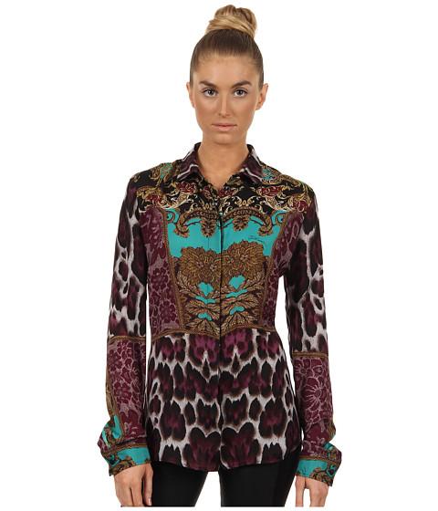 Bluze Just Cavalli - Tapestry Print Blouse - Fuschia