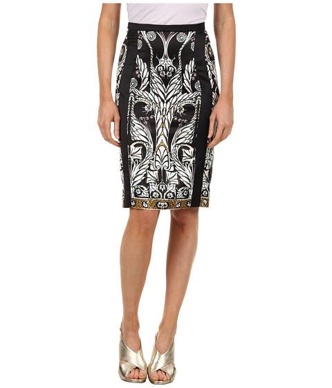 Fuste Just Cavalli - Deco Flower Print Skirt - Black