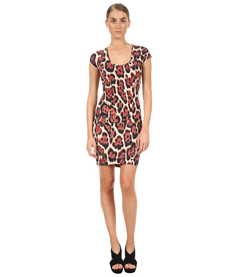 Rochii elegante: Rochie Just Cavalli - Leopard Print Jersey Dress - Red