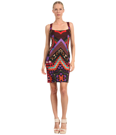 Rochii elegante: Rochie Just Cavalli - Quilted Star Print Shift Dress - Red