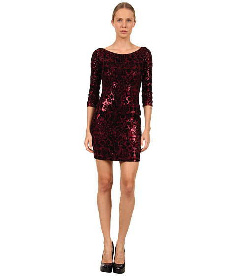 Rochii elegante: Rochie Just Cavalli - S04CT0171N20522 Sequin Flocked Dress - Bordeaux