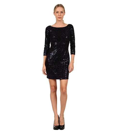Rochii elegante: Rochie Just Cavalli - S04CT0171N20522 Sequin Flocked Dress - Navy