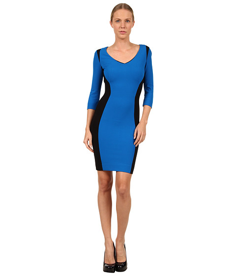 Rochii elegante: Rochie Just Cavalli - S04CT0196N20286 Ponte Color Block Dress - Blue