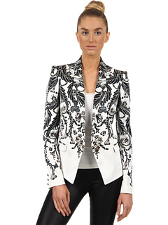Sacouri Just Cavalli Deco Flower Print Jacket White | mycloset.ro