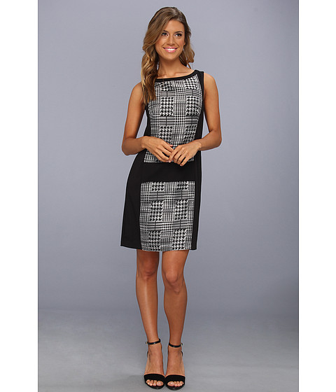 Rochii elegante: Rochie Jessica Simpson - Sleeveless Contrast Dress - Black/White