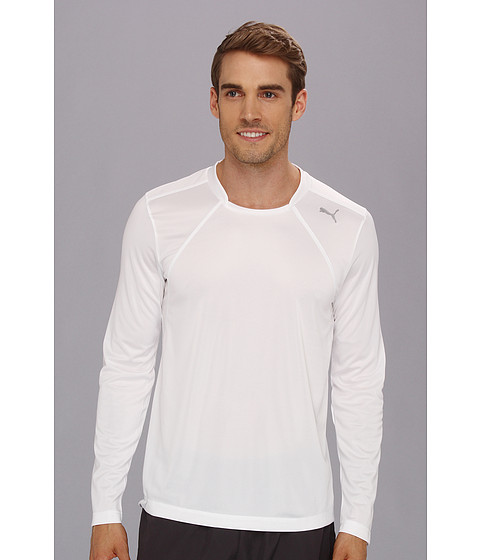 Tricouri PUMA - Basic Long Sleeve Performance Tee - White/White