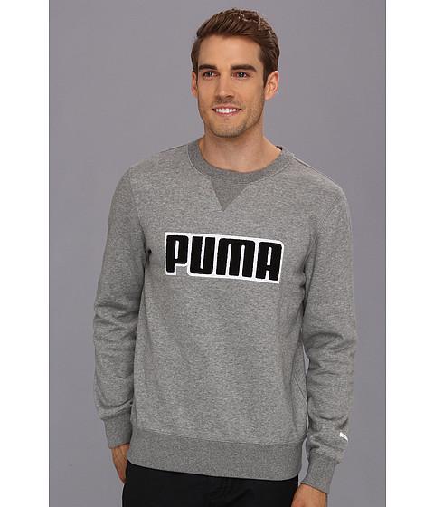 Bluze PUMA - Fleece Crew - Medium Grey Heather/Black