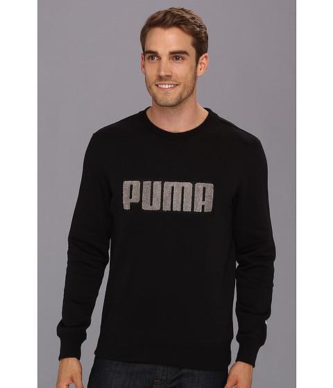 Bluze PUMA - Fleece Crew - Black/Steel Grey
