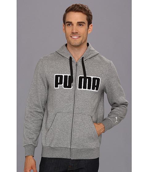 Bluze PUMA - Hooded Fleece Jacket - Medium Grey Heather/Black