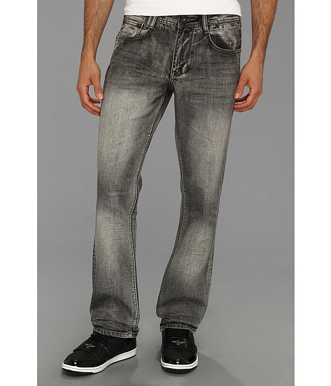 Blugi Fresh Brand - Gareth Medium Light Grey Wash Denim - Medium Light Grey Wash