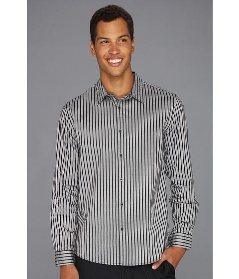 Camasi DKNY - L/S Wide Stripe Shirt-City Press - Black