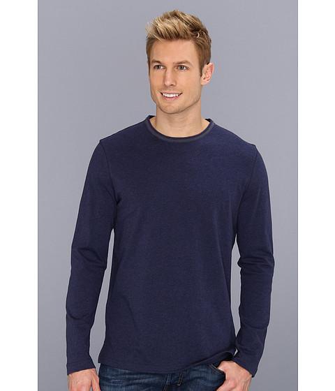Bluze Robert Graham - Bali L/S Crew Neck Cotton Jersey Stripe Shirt - Navy