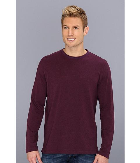 Bluze Robert Graham - Bali L/S Crew Neck Cotton Jersey Stripe Shirt - Plum