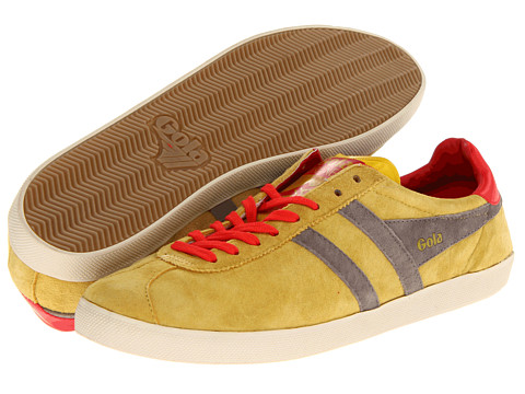 Adidasi Gola - Trainer Suede - Mustard/Grey/Red