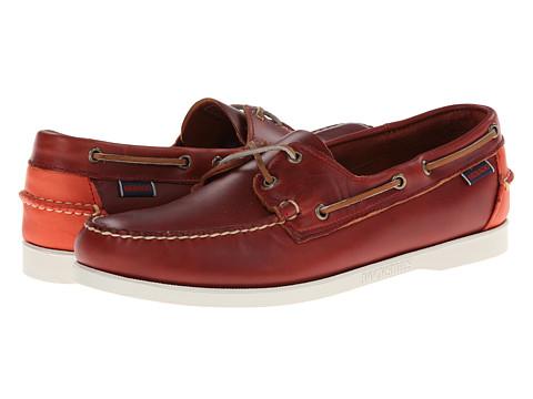 Pantofi Sebago - Horween Spinnaker - Cherry/Bright Red