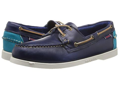 Pantofi Sebago - Horween Spinnaker - Ink/Bright Blue