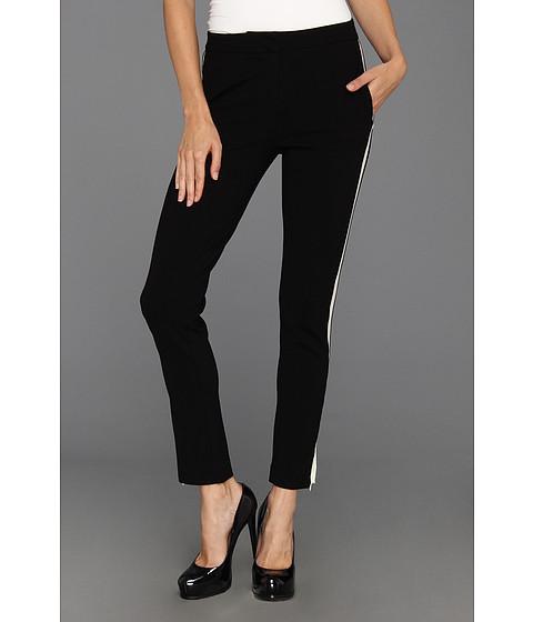 Pantaloni Halston Heritage - Skinny Pant w/ Contrast Tuxedo Stripe - Black/Bone