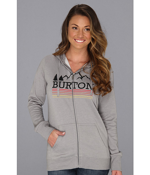 Bluze Burton - Griswold Recycled Full Zip - Heather Pewter