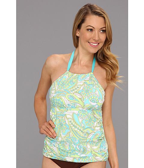 Costume de baie Athena - Pool Paisley Halter Tankini Top - Aqua