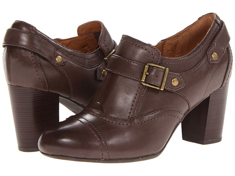 Pantofi Clarks - Town Edge - Dark Grey Leather