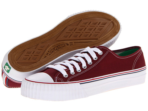 Adidasi PF Flyers - Center Lo Re-Issue - Burgandy Canvas