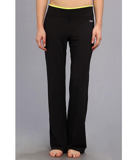 Pantaloni Fila - Boot Cut Pant - Black/Safety Yellow