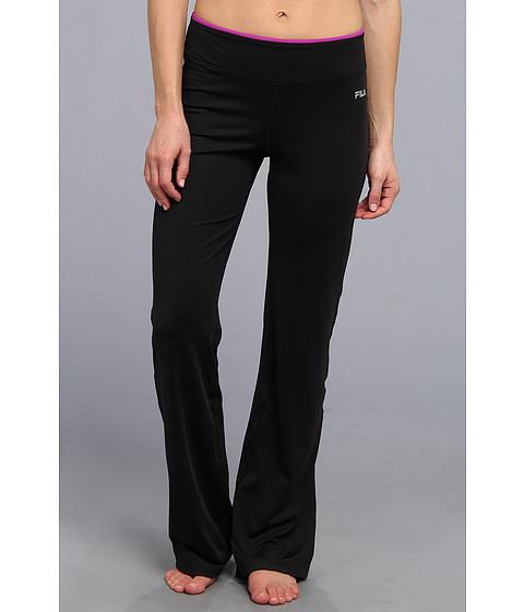 Pantaloni Fila - Boot Cut Pant - Black/Purple Cactus Flower