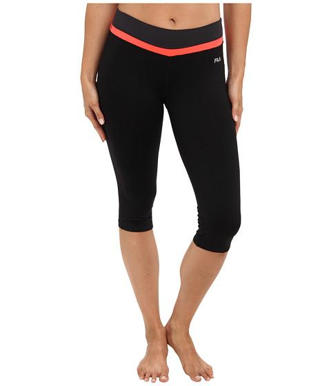 Pantaloni Fila - Tight Capri - Black/Fiery Coral/Ebony