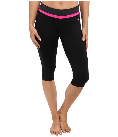 Pantaloni Fila - Tight Capri - Black/Pink Glo/Ebony