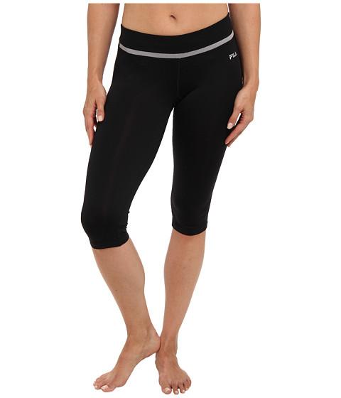 Pantaloni Fila - Tight Capri - Black/Silver Grey/Black