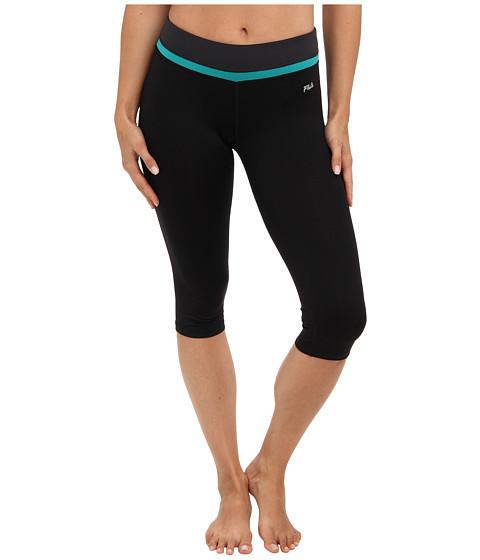 Pantaloni Fila - Tight Capri - Black/Tantalyzing Teal/Ebony