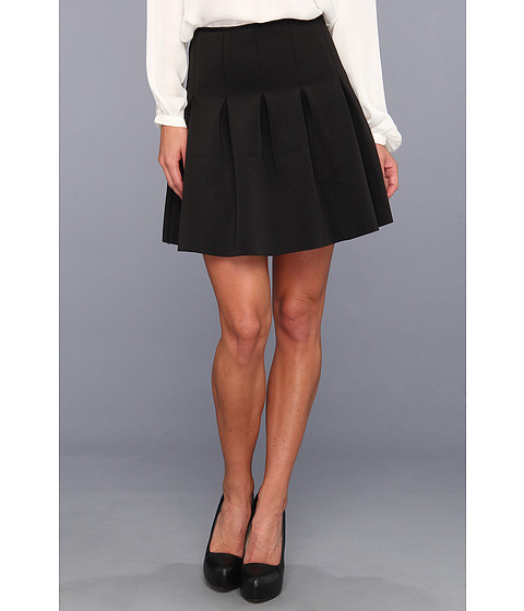 Fuste BCBGeneration - A-Line Pleated Scuba Skirt - Black