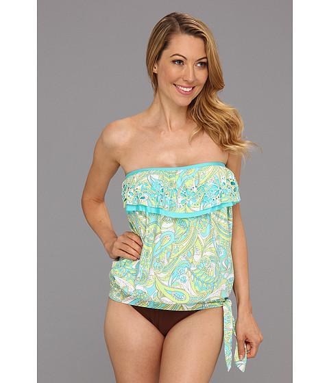 Costume de baie Athena - Pool Paisley Bandini Top - Aqua