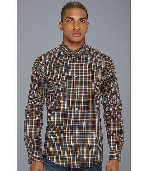 Camasi Ben Sherman - Laundered Melange Grid Check L/S Woven Shirt - Ebony Marl