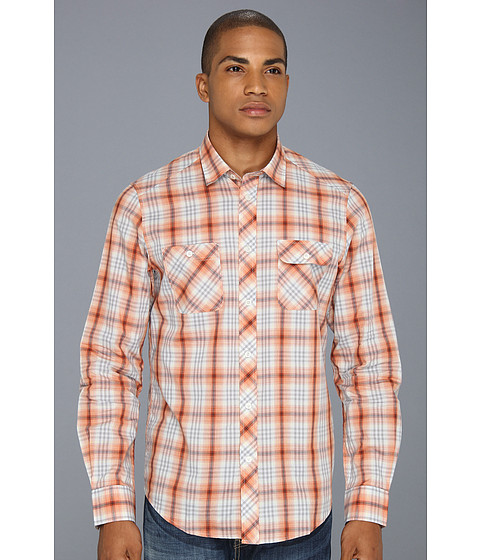 Camasi Ben Sherman - Ombre Plaid L/S Woven Shirt - Aurora Red