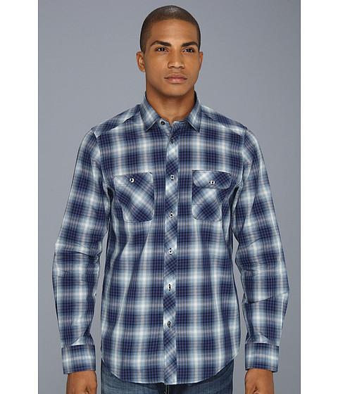 Camasi Ben Sherman - Ombre Plaid L/S Woven Shirt - Navy Blazer